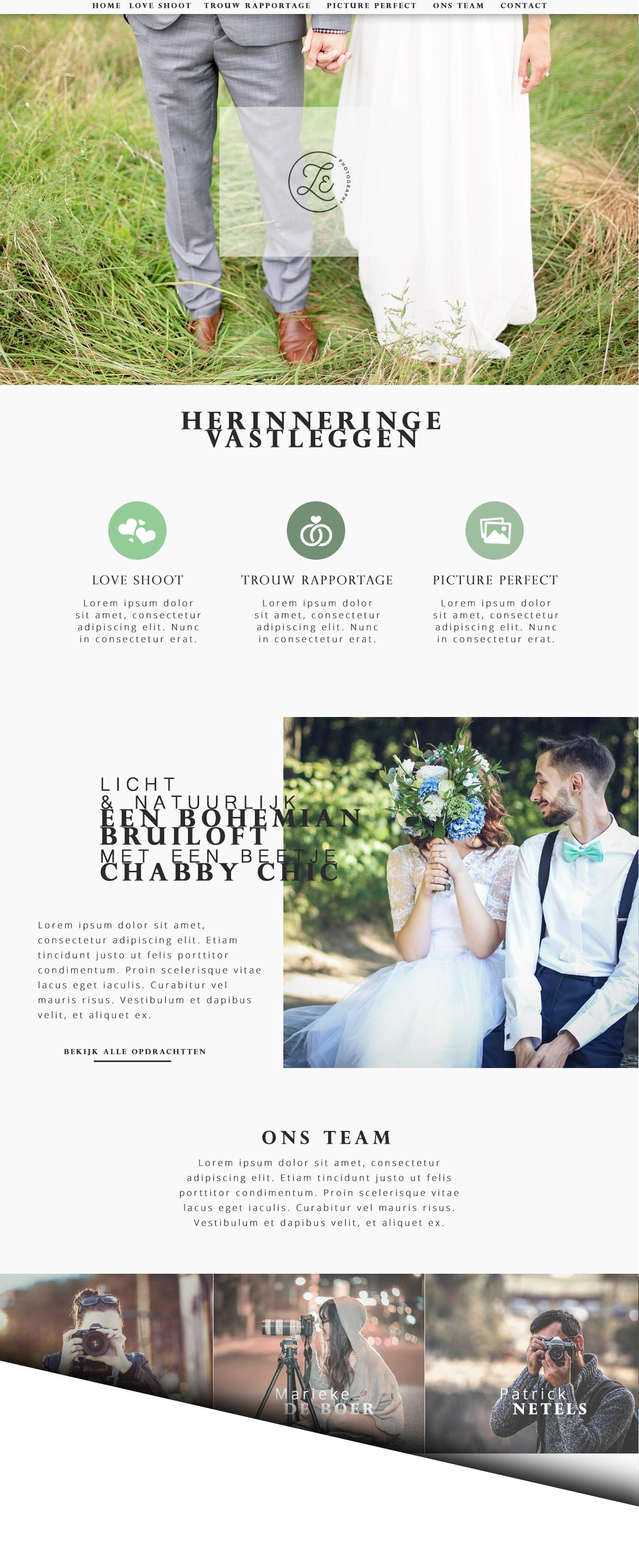 trouwfotografie website design